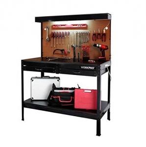 Best Garage Workbench with Light Wood Steel