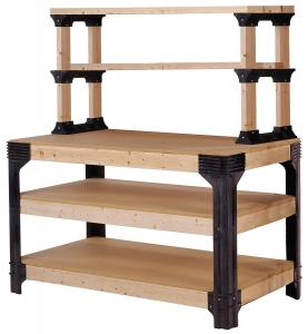 workbench plans-Hopkins 2x4 Basics Workbench and Shelving