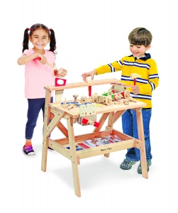 best Melissa & Doug 2369Solid Wood Project Workbench Play Building Set