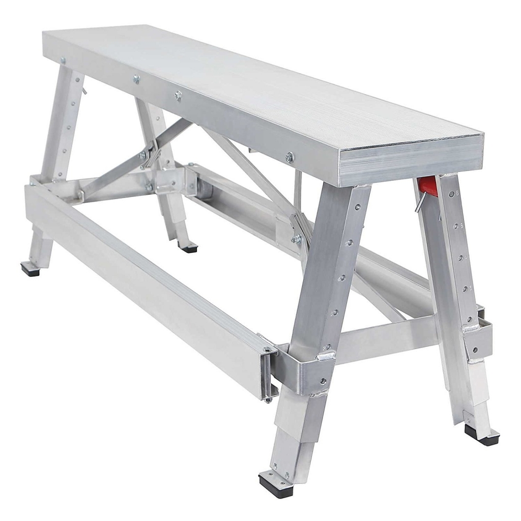 GypTool Adjustable Height Drywall Taping & Finishing Walk-Up Bench
