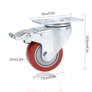 best COOCHEER retractable casters for woodshop for workbenches