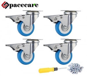 SPACECARE workbench caster wheels lift mechanism