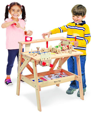 Melissa-&-Doug-2369Solid-Wood-Project-Workbench-Play-Building-Set