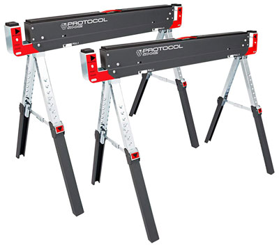 Adjustable-Height-Metal-Folding-Sawhorse