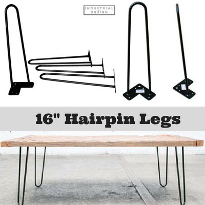 Industrial By Design 40 Hairpin Table Legs Raw Steel Three Rod