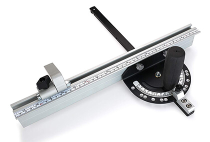 WoodRiver Snap-Set Miter Gauge Fence Combo with Flip-Stop