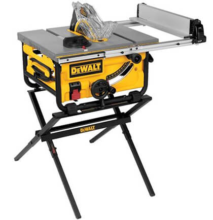DEWALT 10-Inch Portable Table Saw with Stand