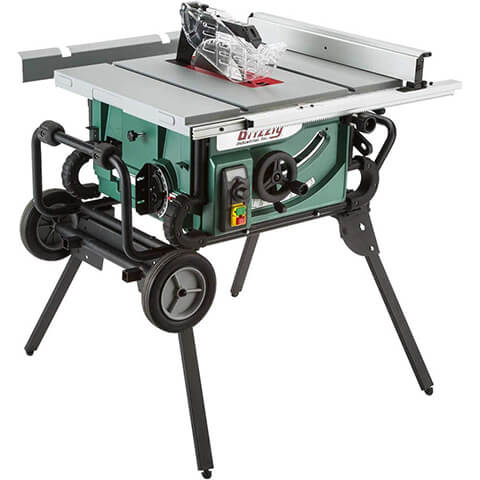 Grizzly Industrial G0870 Portable Table Saw with Roller Stand