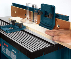 router table surface area