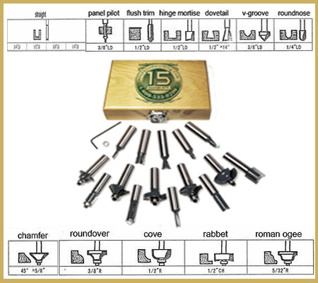 MLCS-8377-15-Piece-Router-Bit-Set