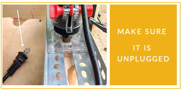 router table unplugged