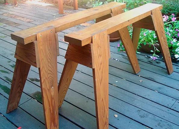 Classic Wood Sawhorse