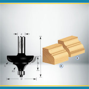 Classical Cove and Bead Router Bits