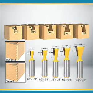 Dovetail Router Bits