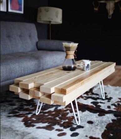 DIY Wooden Coffee Table