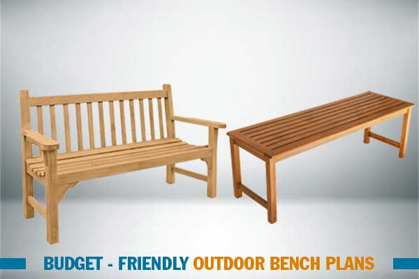 outdoor bench plans